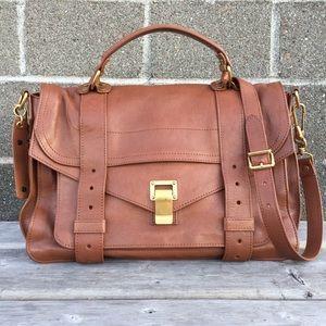Auth. Proenza Schouler PS1 Medium Leather Bag